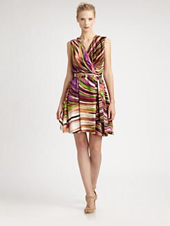 Josie Natori - Printed Silk Dress