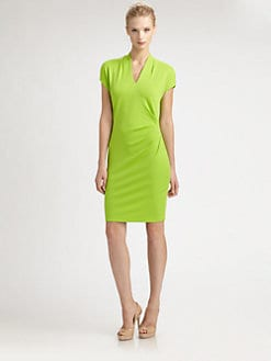 Josie Natori - Jersey Side-Pleat Dress
