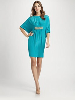 Josie Natori - Silk/Cotton Caftan Dress