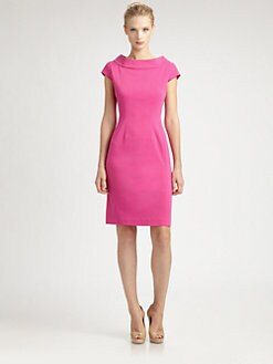 Josie Natori - Cap-Sleeve Dress
