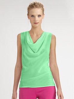 Josie Natori - Silk/Cotton Draped Top