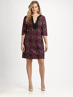 Melissa Masse, Salon Z - Printed Shift Dress