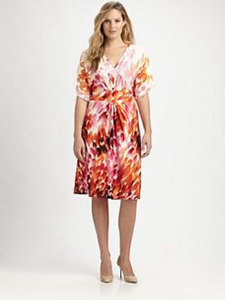 Melissa Masse, Salon Z - Jersey Petal-Print Dress