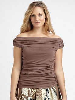 Melissa Masse, Salon Z - Off-The-Shoulder Ruched Top