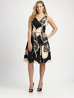 Melissa Masse, Salon Z - Printed Sheath Dress