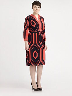 Melissa Masse, Salon Z - Printed Jersey Dress
