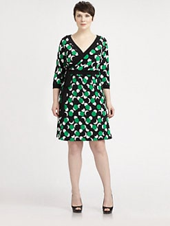Melissa Masse, Salon Z - Printed Jersey Wrap Dress