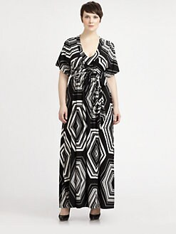 Melissa Masse, Salon Z - Printed Maxi Dress