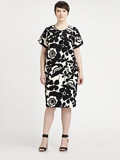 Melissa Masse, Salon Z - Graphic-Floral Sheath Dress