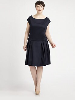 Melissa Masse, Salon Z - Sateen Sheath Dress