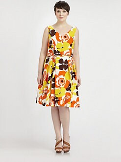 Melissa Masse, Salon Z - Sleeveless Floral-Print Dress
