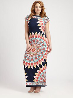 Melissa Masse, Salon Z - Cap-Sleeve Maxi Dress