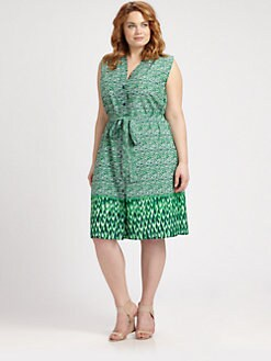 Melissa Masse, Salon Z - Silk Shirtdress