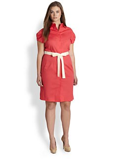 Melissa Masse, Salon Z - Puffed-Sleeve Shirtdress