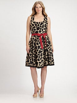Melissa Masse, Salon Z - Graphic Print A-line Dress