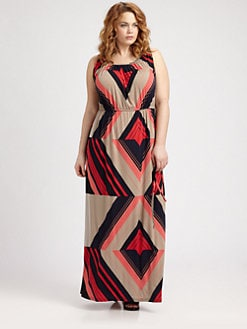 Melissa Masse, Salon Z - Graphic Print Maxi Dress