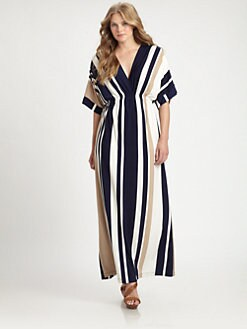 Melissa Masse, Salon Z - Stripe Maxi Dress