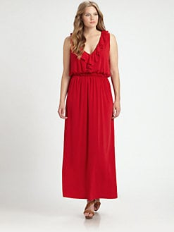 Melissa Masse, Salon Z - Ruffle-Detail Maxi Dress