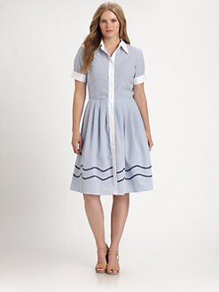 Melissa Masse, Salon Z - Seersucker Shirtdress