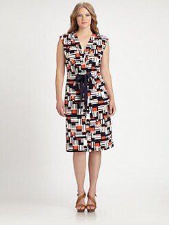 Melissa Masse, Salon Z - Grosgrain-Belt Jersey Dress