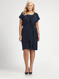 Melissa Masse, Salon Z - Silk Boatneck Dress