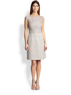 Kay Unger - Lace & Tweed Dress