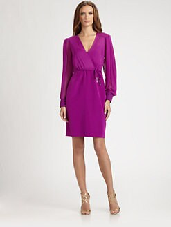 Kay Unger - Chiffon Faux Wrap Dress