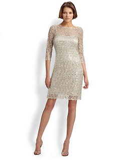 Kay Unger - Beaded Lace Dress
