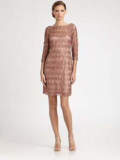 Kay Unger - Sequined Lace Dress