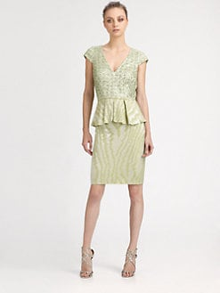 Kay Unger - Sequined Moire Dress