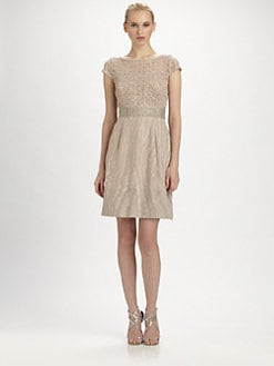 Kay Unger - Sequined Moiré Dress