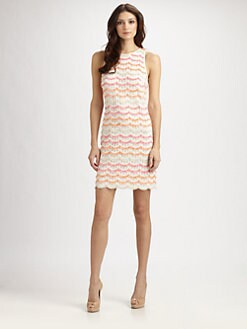 Kay Unger - Scalloped Lace Dress
