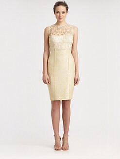 Kay Unger - Lace/Tweed Dress