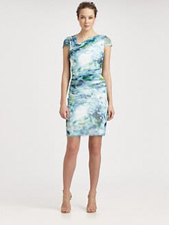Kay Unger - Mesh Print Dress