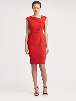 Kay Unger - Textured Crepe Dress