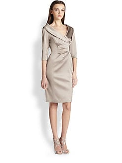 Kay Unger - Satin Portrait Dress