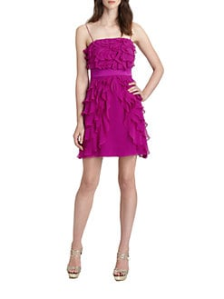 Phoebe Couture by Kay Unger - Tiered Silk Dress