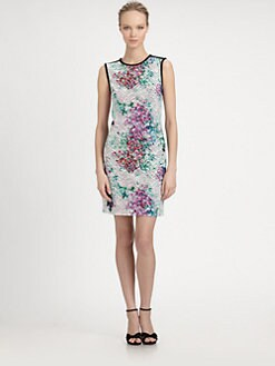 Kay Unger - Printed Stretch Dress