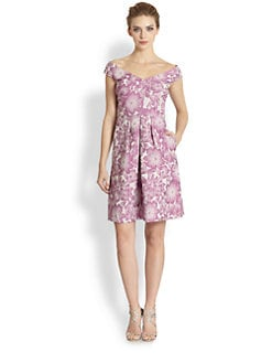 Kay Unger - Floral Jacquard Dress