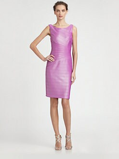 Kay Unger - Glazed Knit Banded Dress