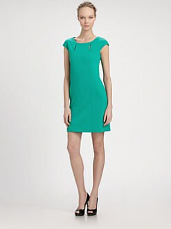 Kay Unger - Slit-Neck Dress