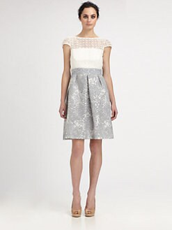 Kay Unger - Lace & Jacquard Dress