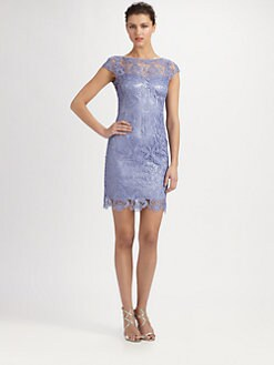 Kay Unger - Embroidered Lace Dress