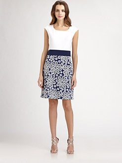 Phoebe Couture by Kay Unger - Floral-Skirt Dress