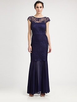 Kay Unger - Lace & Chiffon Gown