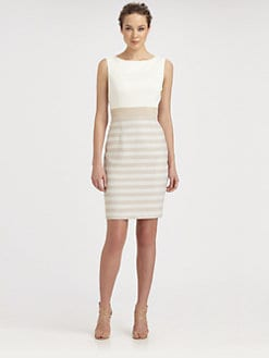 Kay Unger - Stripe-Skirt Dress