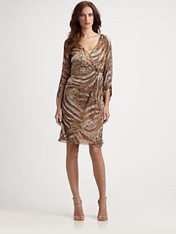Kay Unger - Animal Print Chiffon Dress
