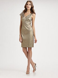 Kay Unger - Asymmetrical Taffeta Dress