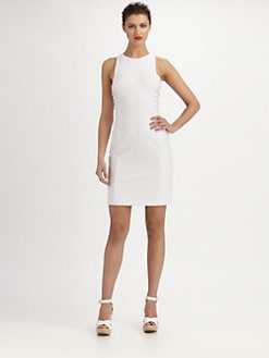 Kay Unger - Stretch Jersey Jacquard Dress
