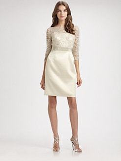 Kay Unger - Lace Illusion Dress